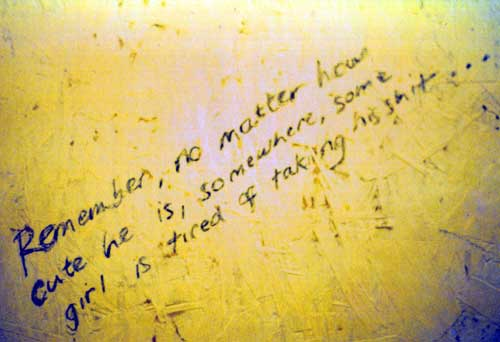 activist art] - the truth is written on the toilet wall